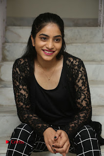 Actress Punarnavi Bhupalam Stills in Black Dress at Pittagoda Press Meet  0099.JPG