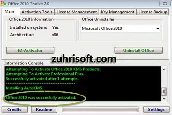 office 2010 toolkit product activation failed