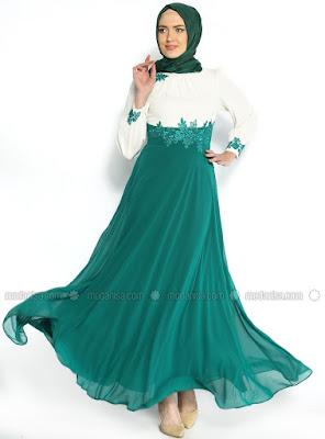 Model Baju Muslim Gamis Sifon Modern