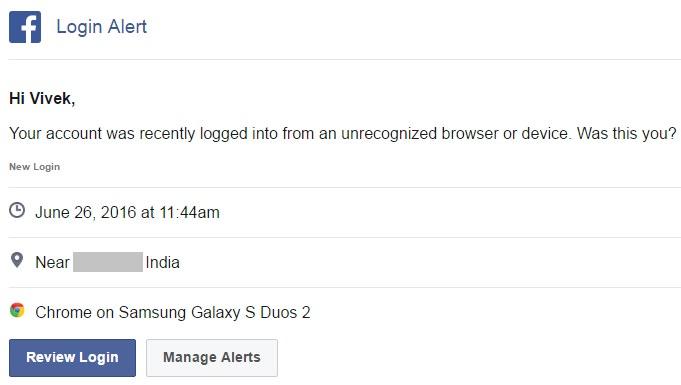 Login alerts emails