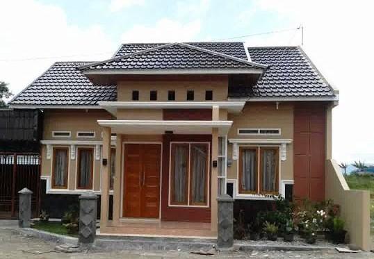 56 Model Rumah Sederhana Di Kampung Yang Modern Dan