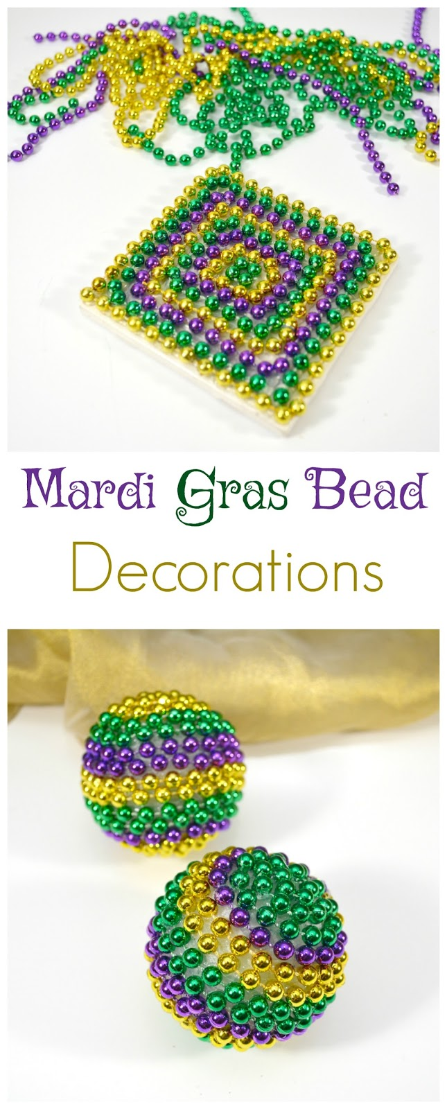 Life With 4 Boys Diy Mardi Gras Bead Decorations