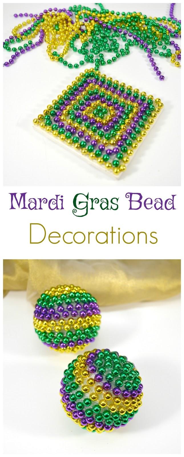Mardi gras strip for beads