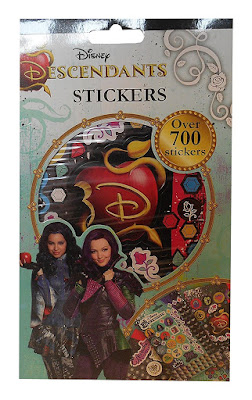 Disney Descendants party ideas-stickers for a picture frame or for goody bags