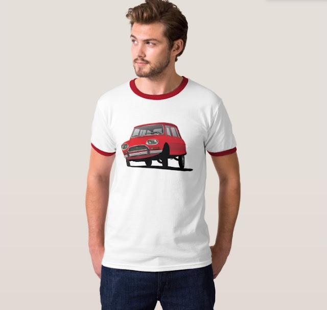 Red classic carCitroën Ami 8 shirt