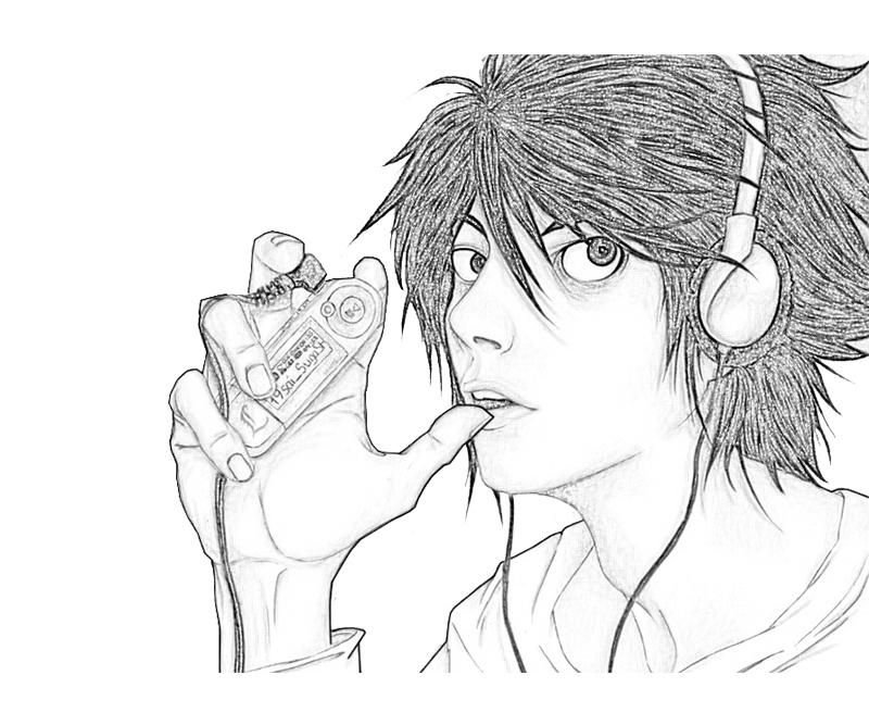 deathnote coloring pages - photo#17