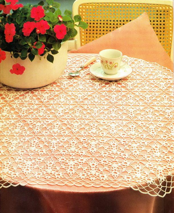 Crochet lace tablecloth, Triangle motif