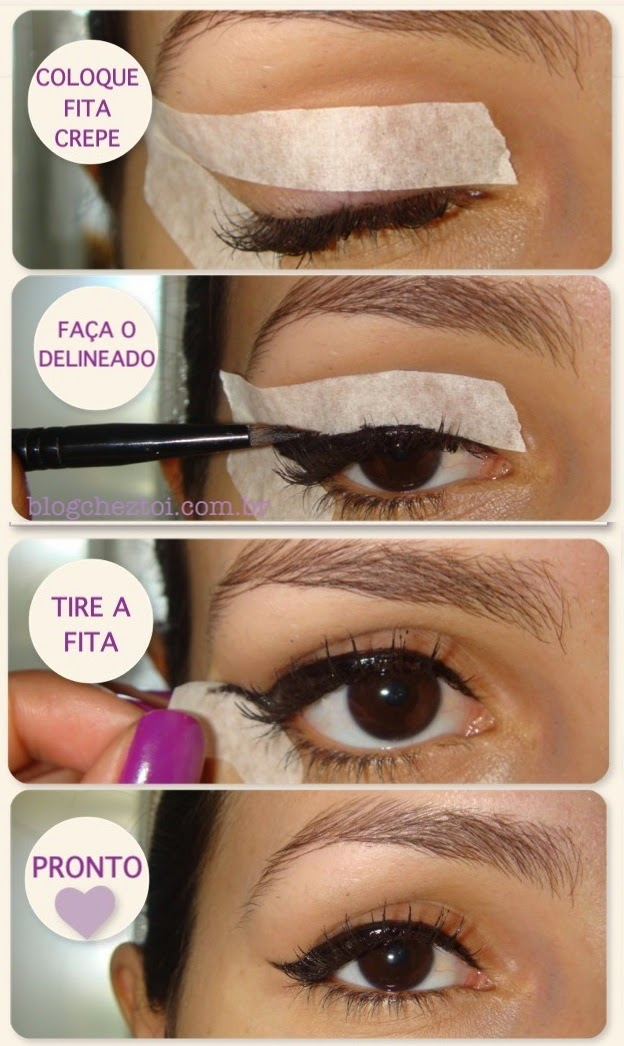 Step By Step Black Eyeliner With Tape Tutorial - B & G Fashion