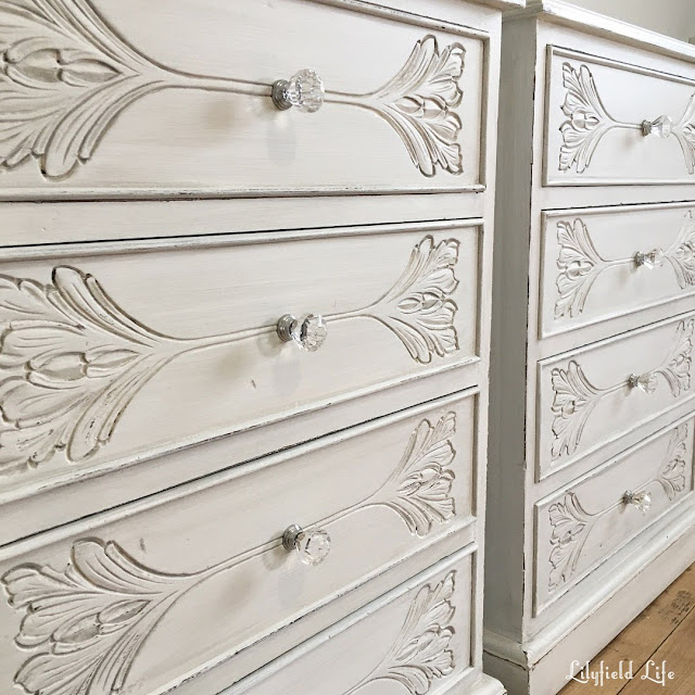 Lilyfield Life french white hand painted bedside tables
