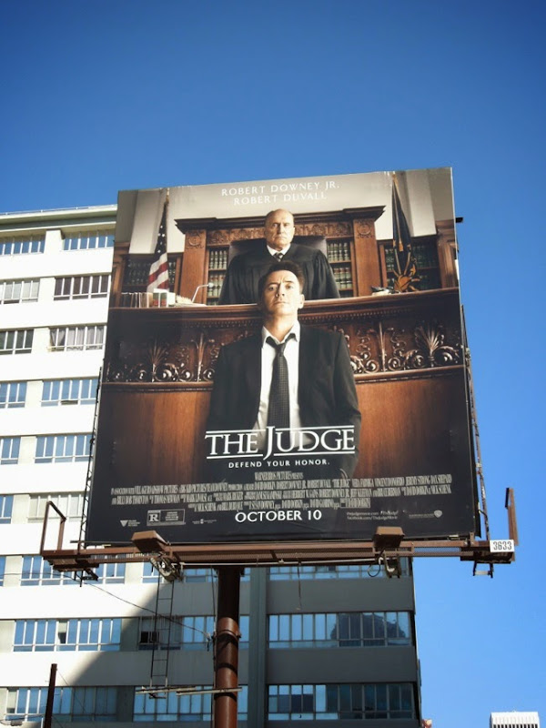 The Judge film billboard
