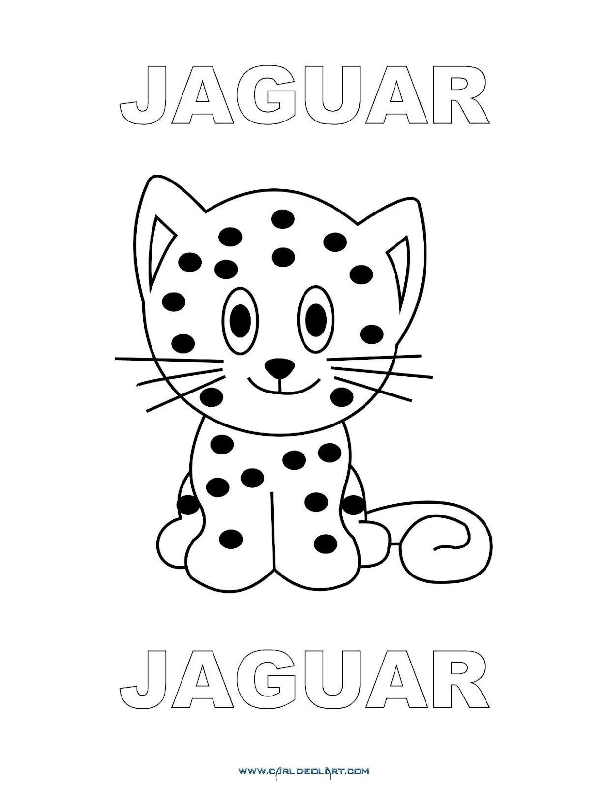 Dibujos Inglés Español Con J Jaguar Jaguar Dibujospacolorear