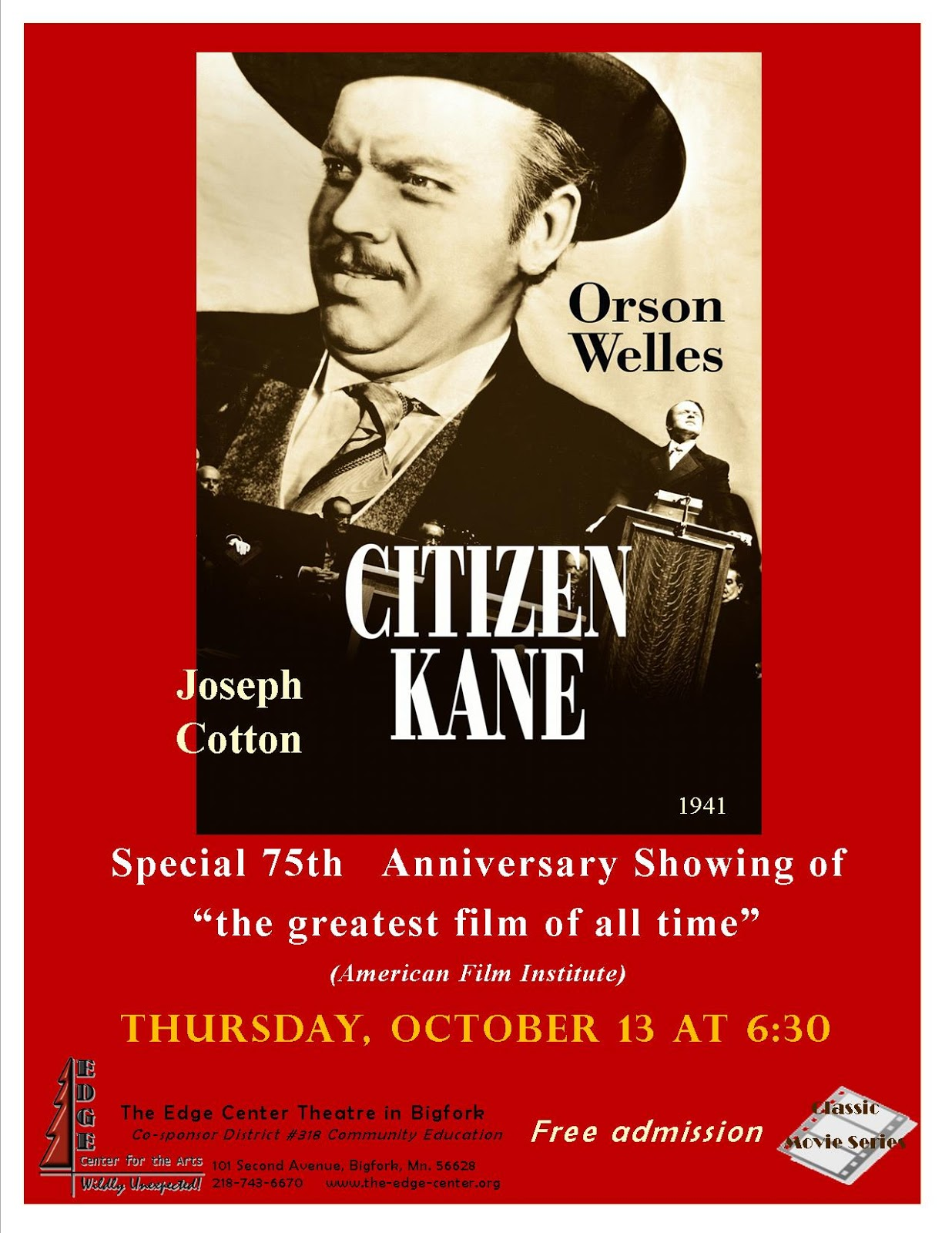 an analysis of the film citizen kane by orson wells Read the citizen kane plot and find out who is in the cast and crew at moviescom orson welles first feature film -- which he directed, produced.
