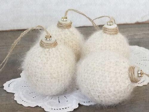 lovely fluffy Christmas balls