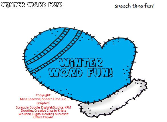 Winter Word Fun! - Speech Time Fun: Speech and Language