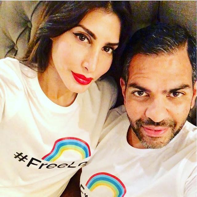 Priya Sachdev with Husband Sunjay Kapoor