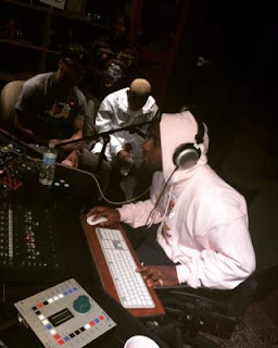 Davido and Olamide in the studio