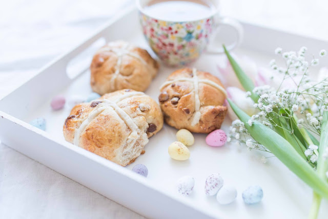 Mini Egg Hot Cross Buns Recipe on Little Paper Swans