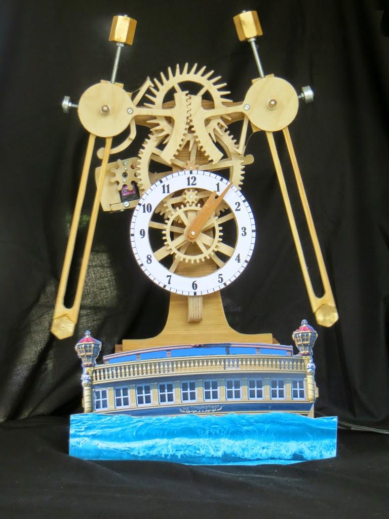 Wooden Clock Spot: Sea Clock