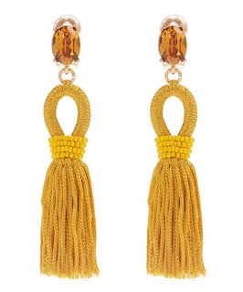Make a splash in these statement earrings - Short Tassel Earrings - Oscar De La Renta - Jewellery Summer Holiday