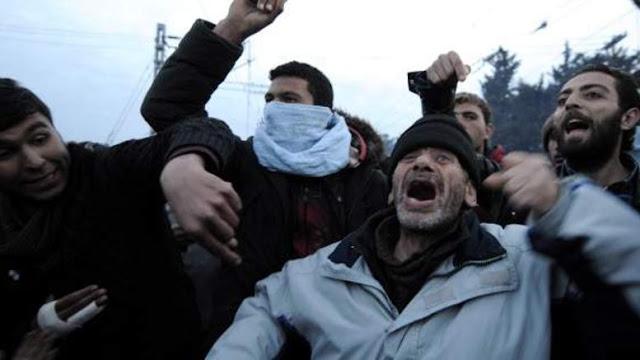Αριστεριστές ωθούν σε ξεσηκωμό τους «πρόσφυγες» στην Ειδομένη