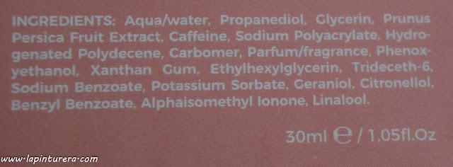 contorno de ojos ingredientes