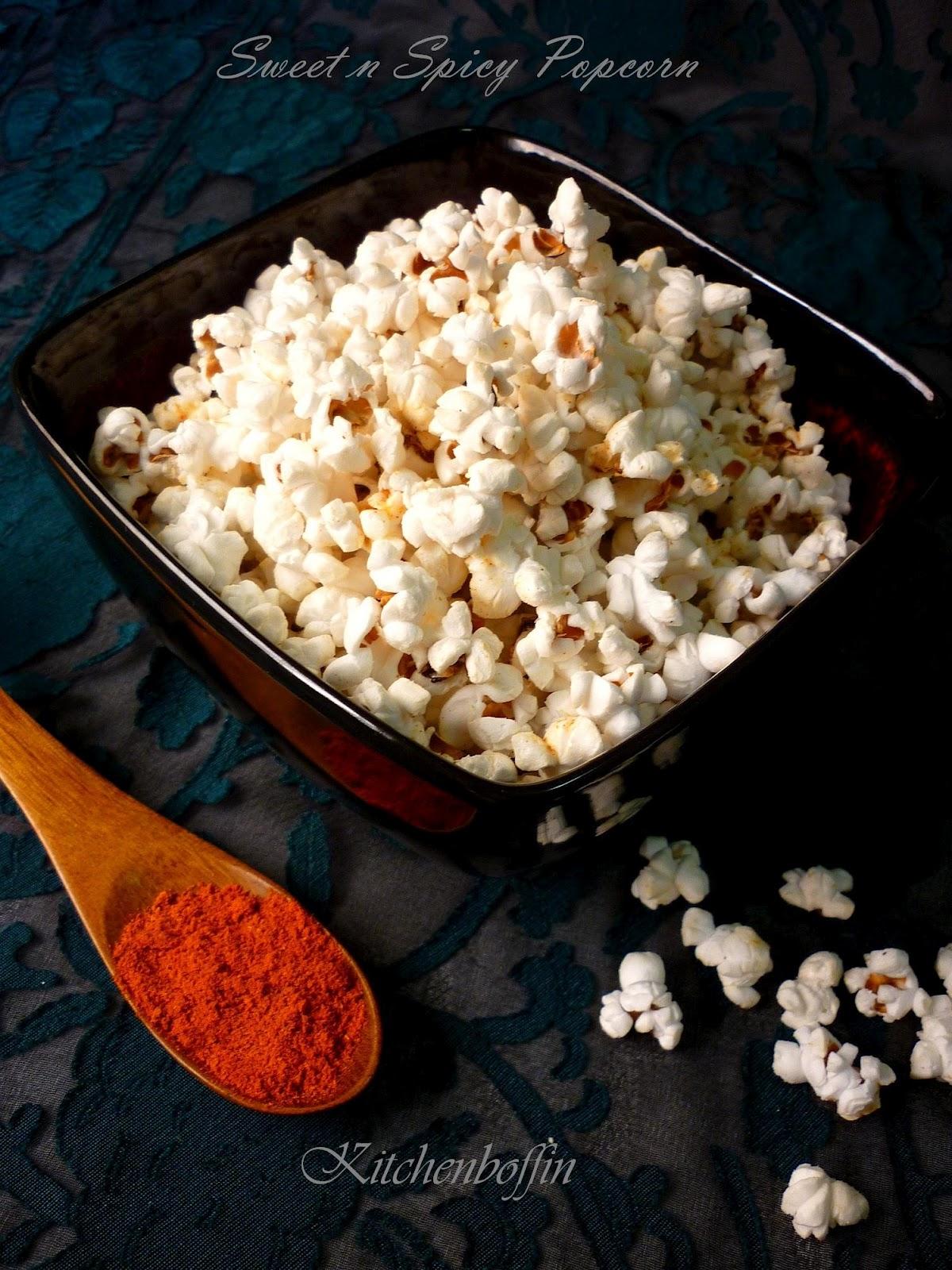 Kitchen Boffin Sweet Spicy Popcorn