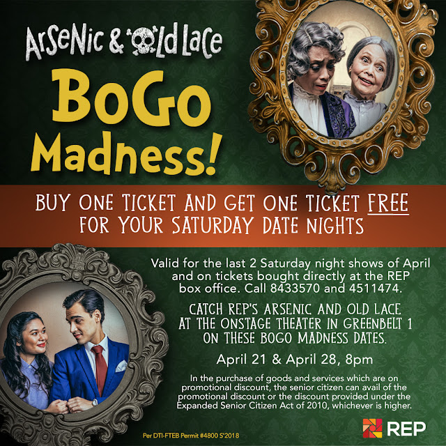 Arsenic & Old Lace Buy 1 Get 1 tickets