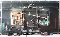service led tv sharp bsd serpong tangerang