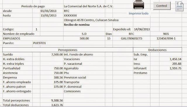 Generar Nomina Formatos Para Liquidaciones Manuales