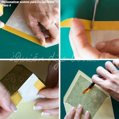 Personalizar sobres de invitaciones de boda  - Paso 4