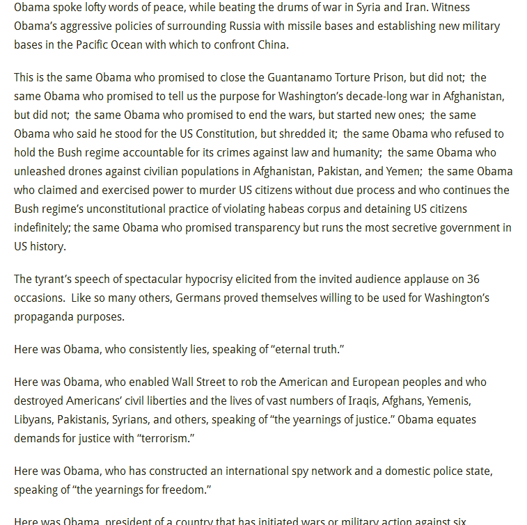 «Stasi in the White House» Paul Craig Roberts, June 21, 2013