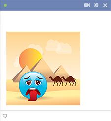 Very thirsty emoji