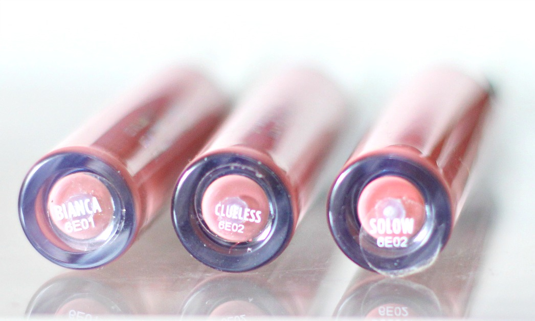 Colourpop ultra matte liquid lipsticks in biance, clueless and solow review and swatch