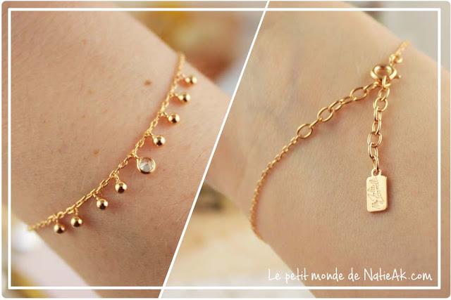 bracelet swarovski du coffret boules de bain de My Jolie candle