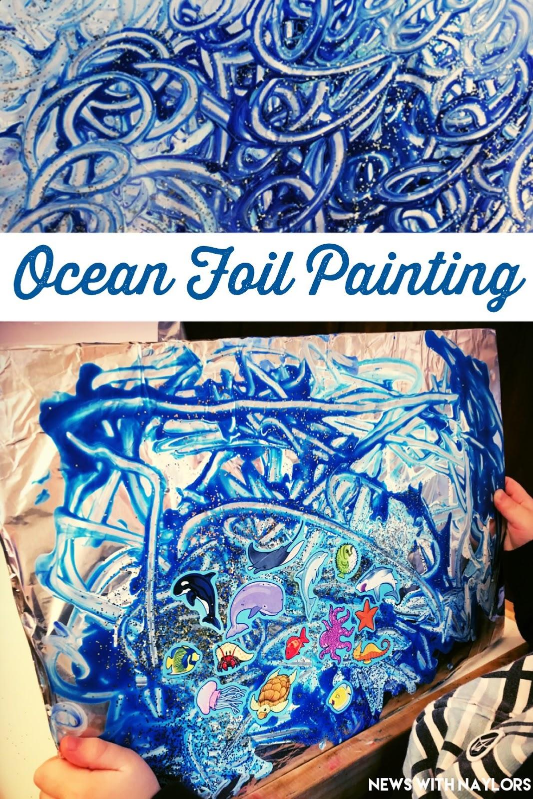 Ocean Foil Painting