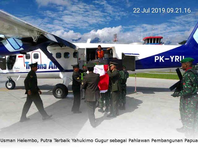 Usman Helembo, Putra Terbaik Yahukimo Gugur sebagai Pahlawan Pembangunan Papua