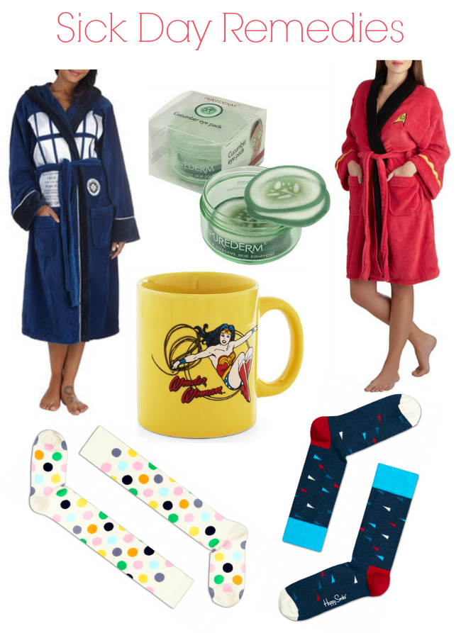 ,Doctor Who tardis robe, star trek robe,wonder woman coffee cup, cute socks for a sick day care package