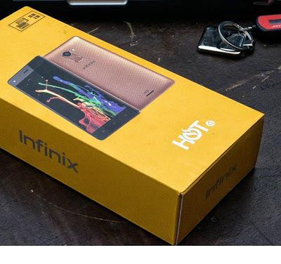 Infinix Hot 4 Unboxing Photos