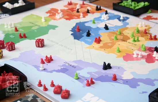 """Imagem do """"War in Rio"""" - é uma replica do mapa do Rio de Janeiro com a divisão semelhante ao jogo WAR."""