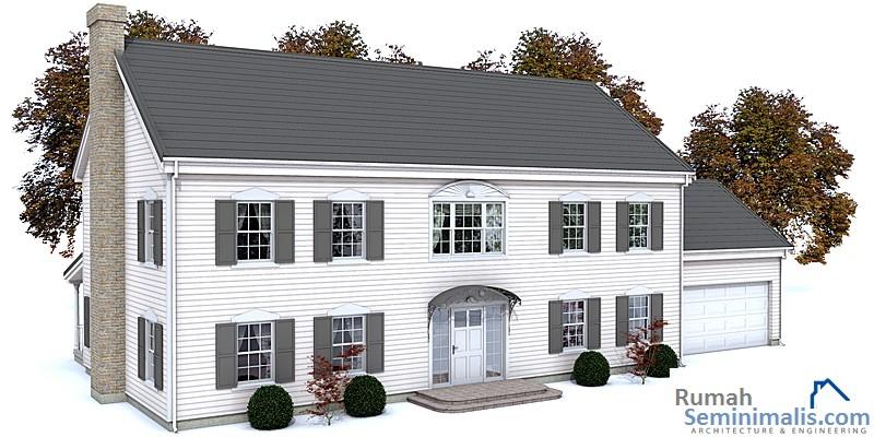 Denah Model Desain Gambar Rumah Minimalis Idaman Sederhana Tipe 131