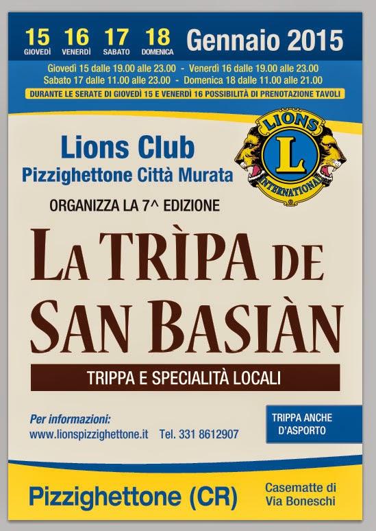 La Tripa de San Basian dal 15 al 18 Gennaio Pizzighettone (CR)