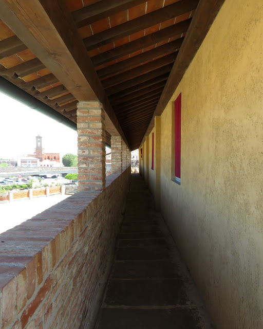 A covered walkway, Fortezza Vecchia (Old Fortress), Livorno