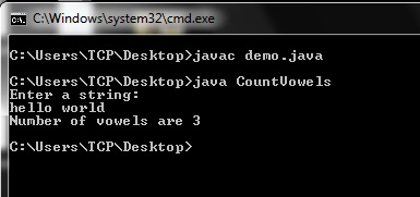 Java Program to Count Number of Vowels in a String