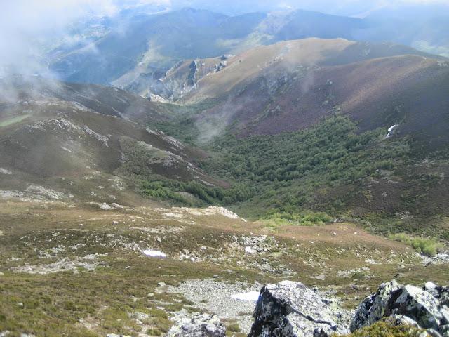 Vistas desde el Maluro hacia Carballeda de Valdeorras