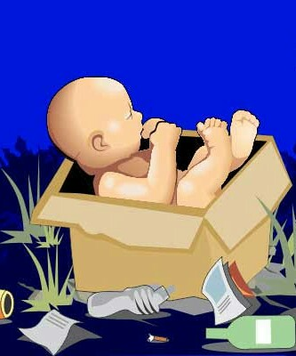 Ilustrasi bayi dibuang