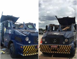 Bando que explodiu carros-fortes na PB deixou R$ 200 mil ao atirar na PRF e fugir