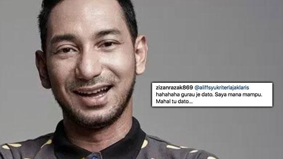 Dato' Aliff Syukri Muat Naik Gambar Bag Idaman. Lihat Apa Zizan Komen. Hampeh Betul!