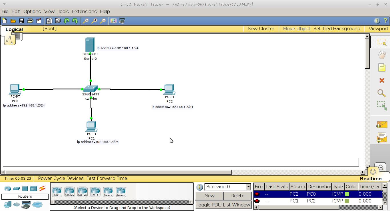 Membangun Simulasi Jaringan LAN Sederhana Menggunakan