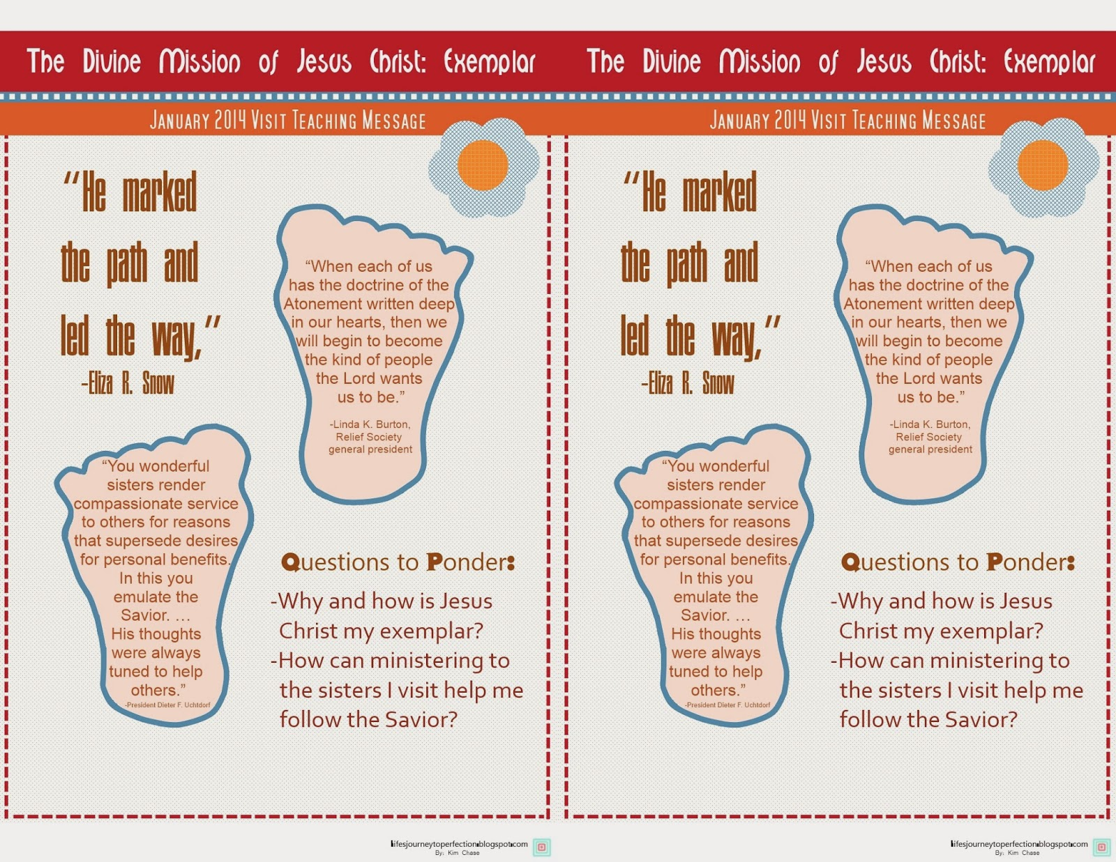 Life S Journey To Perfection January Visit Teaching Message Handout