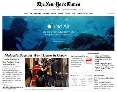 Anuncio publicitario desafortunado de iPad Air